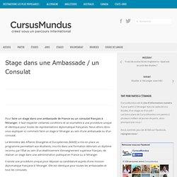 Stage dans une Ambassade / un Consulat
