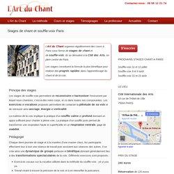 Stage de chant Paris