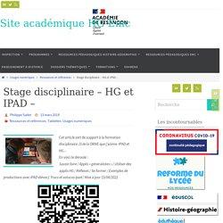 Stage disciplinaire - HG et IPAD