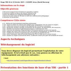 Stage TBI 24 et 25 février 2015 - CANOPE Arras (David Ducrocq)