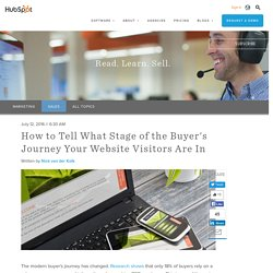 How to Tell What Stage of the Buyer's Journey Your Website Visitors Are In
