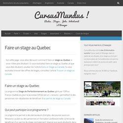 Stage au Québec : le visa de stage au Québec