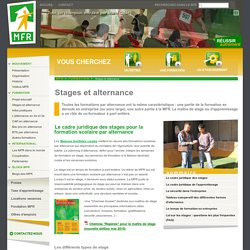 Stages et alternance