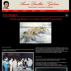 Stages d'Annie Lecullier-Galvan