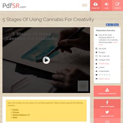 5 Stages Of Using Cannabis For Creativity