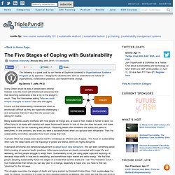 The Five Stages of Coping with Sustainability