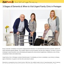 3 Stages of Dementia & When to Visit Urgent Family Clinic in Pentagon