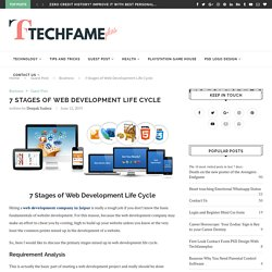 7 Stages of Web Development Life Cycle