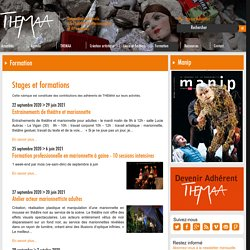 Stages et formations - THEMAA