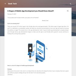 6 Stages of Mobile App Development you Should Know About!!!