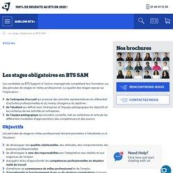 Les stages obligatoires en BTS SAM - Prépa Aurlom