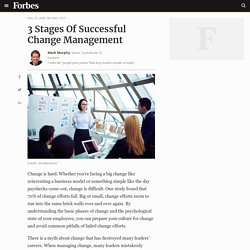 3 Stages Of Successful Change Management