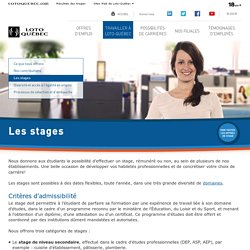 Les stages - Travailler à Loto-Québec