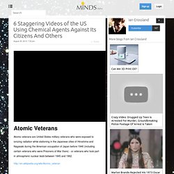 6 Staggering Videos of the US Using Chemical Agents Against Its Citizens And Others