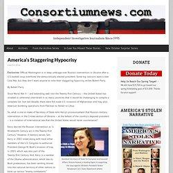 America's Staggering Hypocrisy