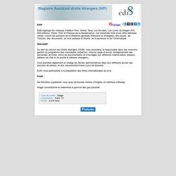 Editis - Stagiaire Assistant droits étrangers (H/F)