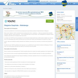 stage Stagiaire Graphiste - Webdesign - MonStage.be