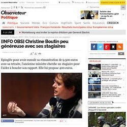 [2010] Christine Boutin peu généreuse avec ses stagiaires - Politique