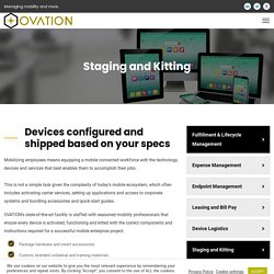 Staging and Kitting - OVATION