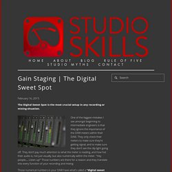 The Digital Sweet Spot — Studio Skills