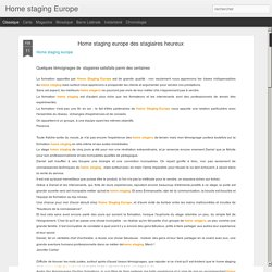 Home staging europe des stagiaires heureux