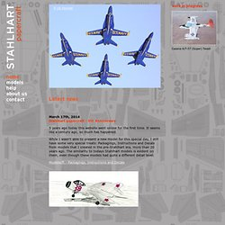 Stahlhart Papercraft – Paper Models of Aircraft, Buildings and Figures