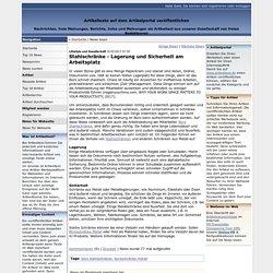 Stahlschränke - Lagerung und Sicherheit am Arbeitsplatz Artikeltexte, Infos, Nachrichten und freie Meinungen