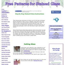 All Stained Glass Instructions and Tutorials on This Web Site