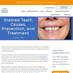 Stained Teeth Causes, Prevention, and Treatment