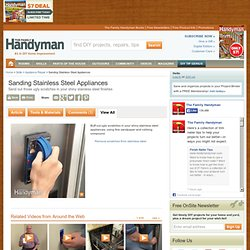 Sanding Stainless Steel Appliances - Article