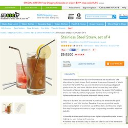 Stainless Steel Drinking Straw, set of 4