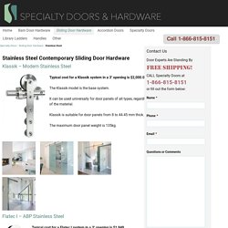 Contemporary Sliding Door Hardware