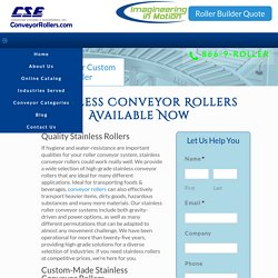 Best Quality Stainless Conveyor Rollers