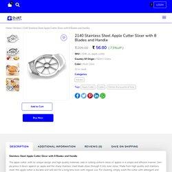 Stainless Steel Apple Cutter Slicer 8 Blades - GjatBazaar