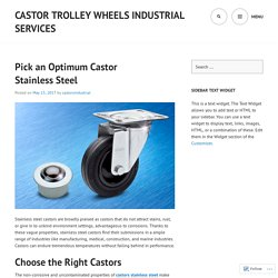 Castor Trolley Wheels Industrial Services