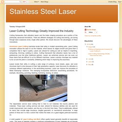 Stainless Steel Laser: Laser Cutting Technology Greatly Improved the Industry