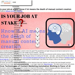 Is your job at stake? Know if AI means the death of manual content creation – Think to Share