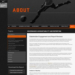 1.4.4 Stakeholder Engagement and Report Reviews - NIKE, Inc.