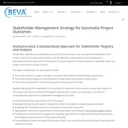 Stakeholder Management Strategy for Successful Project Outcomes - Ottawa Business Management Consulting, Training, Coaching, Human Resources, Project Management