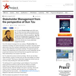 Stakeholder Management from the perspective of Sun Tzu Project Accelerator News
