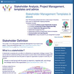 Stakeholder Definition - What are stakeholders?