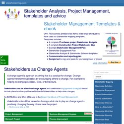 Stakeholders as Change Agents