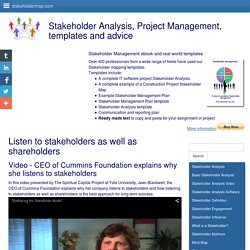 Stakeholder theory - Listen to stakeholders as well as shareholders