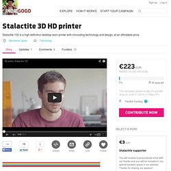 Stalactite 3D HD printer