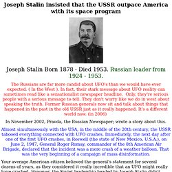 Stalin and the Russian UFO situation