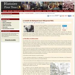 La bataille de Stalingrad (aout 1942-janvier1943)