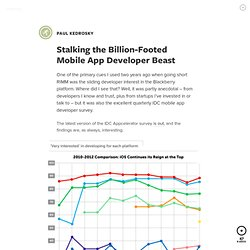 Stalking the Billion-Footed Mobile App Developer Beast