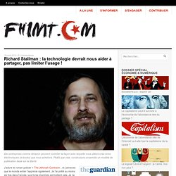 Richard Stallman : la technologie devrait nous aider à partager, pas nous y forcer !
