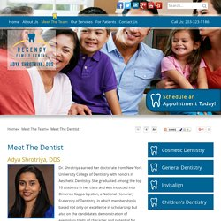 Stamford Invisalign Dentist, General & Laughing Gas Dentist - Adya Shrotriya, DDS