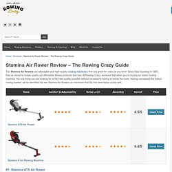 Stamina Air Rower Review - The Ultimate Guide